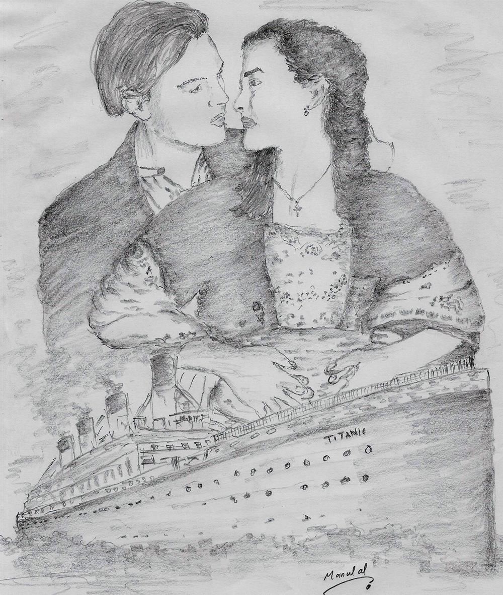 nude pencil sketch titanic